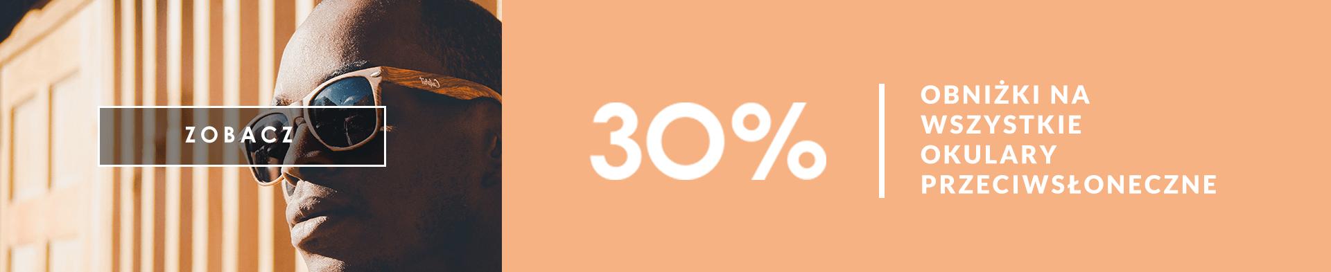 obniżka -30% na okulary słoneczne
